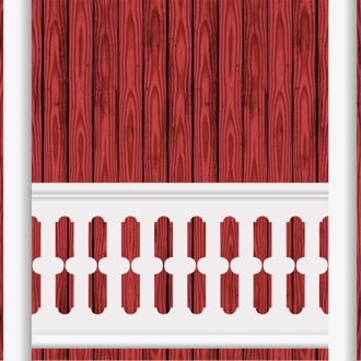 Bilden visar 9 st ribbor tillsammans. Gaveldekor Räcke snickarglädje 004