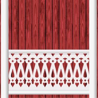 Bilden visar 10 st ribbor tillsamman. Gaveldekor Räcke snickarglädje 007