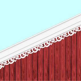 002 Vindskivedekor. Köp Snickarglädje och dekoration till verandan, farstukvisten, hela huset och villan. Måttanpassade konsoler, staket och räcken med snickarglädje. Du hittar gammaldags träräcke att köpa, trästaket med detaljer, mönster, ornament, dekoration för huset, snideri, träsnideri och snickarglädje med krusiduller och krumelurer till farstukvist och veranda samt dekor till taket och vindskivorna. Nockdekor och gavelornament. Dekoration till fönster och överliggare med dekorativt fönsterfoder. Prisvärt, svensktillverkat och snabb leverans.