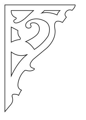 Gaveldekor konsol 092. Köp Snickarglädje och dekoration till verandan, farstukvisten, hela huset och villan. Måttanpassade konsoler, staket och räcken med snickarglädje. Du hittar gammaldags träräcke att köpa, trästaket med detaljer, mönster, ornament, dekoration för huset, snideri, träsnideri och snickarglädje med krusiduller och krumelurer till farstukvist och veranda samt dekor till taket och vindskivorna. Nockdekor och gavelornament. Dekoration till fönster och överliggare med dekorativt fönsterfoder. Prisvärt, svensktillverkat och snabb leverans.