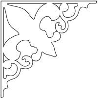 Snickarglädje till ditt hus, här konsol 095 från gaveldekor. Köp Snickarglädje och dekoration till verandan, farstukvisten, hela huset och villan. Måttanpassade konsoler, staket och räcken med snickarglädje. Du hittar gammaldags träräcke att köpa, trästaket med detaljer, mönster, ornament, dekoration för huset, snideri, träsnideri och snickarglädje med krusiduller och krumelurer till fastukvist och veranda samt dekor till taket och vindskivorna. Nockdekor och gavelornament. Dekoration till fönster och överliggare med dekorativt fönsterfoder. Prisvärt, svensktillverkat och snabb leverans.