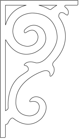 Gaveldekor konsol 096. Köp Snickarglädje och dekoration till verandan, farstukvisten, hela huset och villan. Måttanpassade konsoler, staket och räcken med snickarglädje. Du hittar gammaldags träräcke att köpa, trästaket med detaljer, mönster, ornament, dekoration för huset, snideri, träsnideri och snickarglädje med krusiduller och krumelurer till farstukvist och veranda samt dekor till taket och vindskivorna. Nockdekor och gavelornament. Dekoration till fönster och överliggare med dekorativt fönsterfoder. Prisvärt, svensktillverkat och snabb leverans.