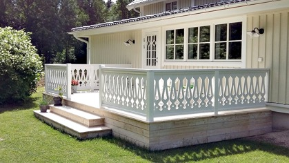 Choose your decorative brackets for your porch or veranda from our standard dimensions or order your brackets with your specified dimensions. Brackets, Bracket, House Decoration, House Decorations, Balusters, Gable Decorations, Railings, Banisters, from Sweden, Swedish houses