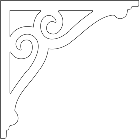 Decorative brackets for your porch or veranda from our standard dimensions or order your brackets with your specified dimensions. Brackets, Bracket, House Decoration, House Decorations, Balusters, Gable Decorations, Railings, Banisters, from Sweden, Swedish houses, Gaveldekor, Gingerbread, gingerbread-house