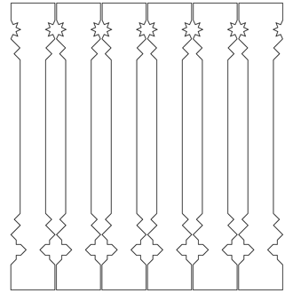 Decorative brackets for your porch or veranda from our standard dimensions or order your brackets with your specified dimensions. Brackets, Bracket, House Decoration, House Decorations, Balusters, Gable Decorations, Railings, Banisters, from Sweden, Swedish houses, Gaveldekor, Gingerbread, gingerbread-house - Gaveldekor Räcke snickarglädje 010