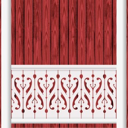 Decorative brackets for your porch or veranda from our standard dimensions or order your brackets with your specified dimensions. Brackets, Bracket, House Decoration, House Decorations, Balusters, Gable Decorations, Railings, Banisters, from Sweden, Swedish houses, Gaveldekor, Gingerbread, gingerbread-house - Gaveldekor Räcke snickarglädje 013