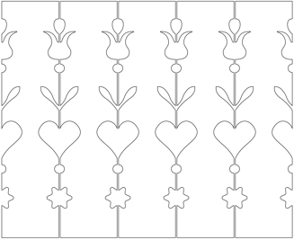 Decorative brackets for your porch or veranda from our standard dimensions or order your brackets with your specified dimensions. Brackets, Bracket, House Decoration, House Decorations, Balusters, Gable Decorations, Railings, Banisters, from Sweden, Swedish houses, Gaveldekor, Gingerbread, gingerbread-house - Gaveldekor Räcke snickarglädje 042