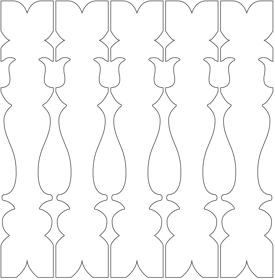 Gaveldekor Räcke snickarglädje 041