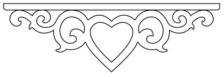snickarglädje som mittendekor hos gaveldekor