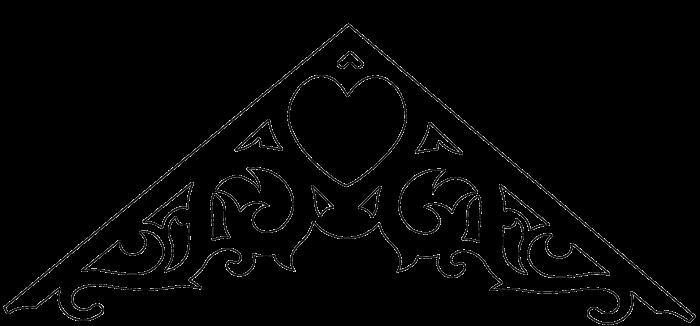 Gavelornament 002 40° Gaveldekor Snickarglädje. Köp Snickarglädje och dekoration till verandan, farstukvisten, hela huset och villan. Måttanpassade konsoler, staket och räcken med snickarglädje. Du hittar gammaldags träräcke att köpa, trästaket med detaljer, mönster, ornament, dekoration för huset, snideri, träsnideri och snickarglädje med krusiduller och krumelurer till farstukvist och veranda samt dekor till taket och vindskivorna. Nockdekor och gavelornament. Dekoration till fönster och överliggare med dekorativt fönsterfoder. Prisvärt, svensktillverkat och snabb leverans.