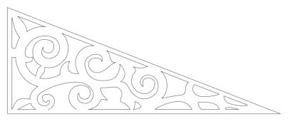 Fyllnadsdekor 010 Gaveldekor Snickarglädje. Köp Snickarglädje och dekoration till verandan, farstukvisten, hela huset och villan. Måttanpassade konsoler, staket och räcken med snickarglädje. Du hittar gammaldags träräcke att köpa, trästaket med detaljer, mönster, ornament, dekoration för huset, snideri, träsnideri och snickarglädje med krusiduller och krumelurer till farstukvist och veranda samt dekor till taket och vindskivorna. Nockdekor och gavelornament. Dekoration till fönster och överliggare med dekorativt fönsterfoder. Prisvärt, svensktillverkat och snabb leverans.