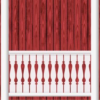 Bilden visar 12 st ribbor tillsamman. Gaveldekor Räcke snickarglädje 008