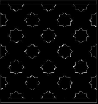 Bilden visar 6 st ribbor tillsamman. Gaveldekor Räcke snickarglädje 009