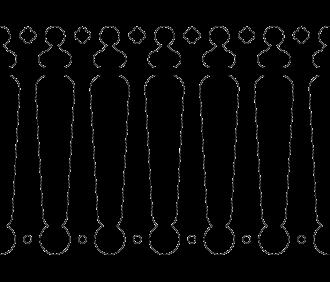 Bilden visar 6 st ribbor tillsammans. Gaveldekor Räcke snickarglädje 040