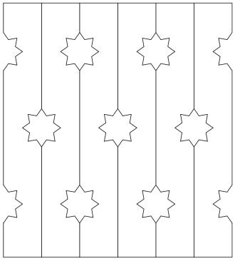 Bilden visar 6 st ribbor tillsamman. Gaveldekor Räcke snickarglädje 017