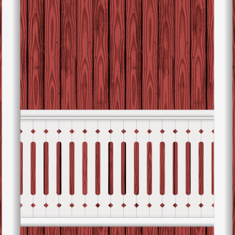 Bilden visar 15 st ribbor tillsammans. Gaveldekor Räcke snickarglädje 005