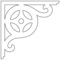 Konsol 089. Köp Snickarglädje och dekoration till verandan, farstukvisten, hela huset och villan. Måttanpassade konsoler, staket och räcken med snickarglädje. Du hittar gammaldags träräcke att köpa, trästaket med detaljer, mönster, ornament, dekoration för huset, snideri, träsnideri och snickarglädje med krusiduller och krumelurer till fastukvist och veranda samt dekor till taket och vindskivorna. Nockdekor och gavelornament. Dekoration till fönster och överliggare med dekorativt fönsterfoder. Prisvärt, svensktillverkat och snabb leverans.