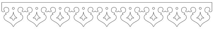 Vindskivedekor 014. Köp Snickarglädje och dekoration till verandan, farstukvisten, hela huset och villan. Måttanpassade konsoler, staket och räcken med snickarglädje. Du hittar gammaldags träräcke att köpa, trästaket med detaljer, mönster, ornament, dekoration för huset, snideri, träsnideri och snickarglädje med krusiduller och krumelurer till fastukvist och veranda samt dekor till taket och vindskivorna. Nockdekor och gavelornament. Dekoration till fönster och överliggare med dekorativt fönsterfoder. Prisvärt, svensktillverkat och snabb leverans.