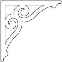 snickarglädje till ditt hus, här konsol 006 från gaveldekor.  Köp Snickarglädje och dekoration till verandan, farstukvisten, hela huset och villan. Måttanpassade konsoler, staket och räcken med snickarglädje. Du hittar gammaldags träräcke att köpa, trästaket med detaljer, mönster, ornament, dekoration för huset, snideri, träsnideri och snickarglädje med krusiduller och krumelurer till fastukvist och veranda samt dekor till taket och vindskivorna. Nockdekor och gavelornament. Dekoration till fönster och överliggare med dekorativt fönsterfoder. Prisvärt, svensktillverkat och snabb leverans.