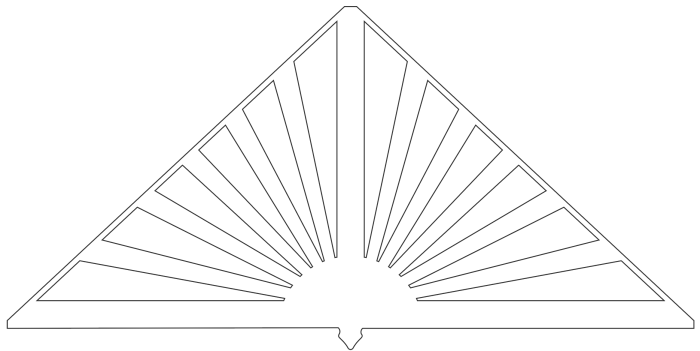 Gavelornament 030° Gaveldekor Snickarglädje