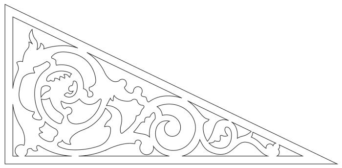 Fyllnadsdekor 040, Snickarglädje och dekoration till verandan, farstukvisten, hela huset och villan. Måttanpassade konsoler, staket och räcken med snickarglädje. Du hittar gammaldags träräcke att köpa, trästaket med detaljer, mönster, ornament, dekoration för huset, snideri, snirklar, träsnideri och snickarglädje med krusiduller och krumelurer till farstukvist, glasveranda, orangeri, lusthus, uterum, pergola, veranda samt dekor till taket och vindskivorna. Nockdekor och gavelornament. Köp dekoration till fönster och överliggare med dekorativt fönsterfoder. Prisvärt, svensktillverkat och snabb leverans online. Snickarglädje, träräcke, räcke, altanräcke, staket, altanstaket, trästaket, dekor, träsnideri, snideri, snirklar, konsoler, konsol, ornament, Schweizerstil, sveitserstil, krusiduller, krumelurer, veranda, orangeri, lusthus, pergola, farstukvist, förstukvist, trämönster, sniderier, gaveldekor, takdekor, vindskivedekor, taknock, husdekoration, balkongräcke, fräfasad, lövsågeri, glädjesågning, sekelskifte, dalahus, hälsingestil, hälsingehus, punchveranda, glasveranda. nyrenässans, trädekoration, stick style, taknock