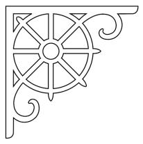 Snickarglädje till ditt hus, här konsol 011 från gaveldekor. Köp Snickarglädje och dekoration till verandan, farstukvisten, hela huset och villan. Måttanpassade konsoler, staket och räcken med snickarglädje. Du hittar gammaldags träräcke att köpa, trästaket med detaljer, mönster, ornament, dekoration för huset, snideri, träsnideri och snickarglädje med krusiduller och krumelurer till fastukvist och veranda samt dekor till taket och vindskivorna. Nockdekor och gavelornament. Dekoration till fönster och överliggare med dekorativt fönsterfoder. Prisvärt, svensktillverkat och snabb leverans.