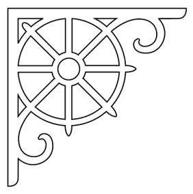 Gaveldekor konsol 011. Köp Snickarglädje och dekoration till verandan, farstukvisten, hela huset och villan. Måttanpassade konsoler, staket och räcken med snickarglädje. Du hittar gammaldags träräcke att köpa, trästaket med detaljer, mönster, ornament, dekoration för huset, snideri, träsnideri och snickarglädje med krusiduller och krumelurer till farstukvist och veranda samt dekor till taket och vindskivorna. Nockdekor och gavelornament. Dekoration till fönster och överliggare med dekorativt fönsterfoder. Prisvärt, svensktillverkat och snabb leverans.