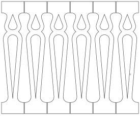 Gaveldekor Räcke snickarglädje 014. Köp Snickarglädje och dekoration till verandan, farstukvisten, hela huset och villan. Måttanpassade konsoler och räcken med snickarglädje. Du hittar träräcke, trästaket med detaljer, mönster, ornamnent, dekoration för huset, snideri, träsnideri och snickarglädje med krusiduller och krumelurer till fastukvisten och verandan samt dekor till taket och vindskivorna. Nockdekor och gavelornament. Dekoration till fönster och överliggare med dekorativt fönsterfoder. Prisvärt, svensktillverkat och snabb leverans.