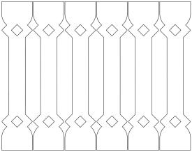 Gaveldekor Räcke snickarglädje 015. Köp Snickarglädje och dekoration till verandan, farstukvisten, hela huset och villan. Måttanpassade konsoler och räcken med snickarglädje. Du hittar träräcke, trästaket med detaljer, mönster, ornamnent, dekoration för huset, snideri, träsnideri och snickarglädje med krusiduller och krumelurer till fastukvisten och verandan samt dekor till taket och vindskivorna. Nockdekor och gavelornament. Dekoration till fönster och överliggare med dekorativt fönsterfoder. Prisvärt, svensktillverkat och snabb leverans.