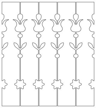 Gaveldekor Räcke 051. Köp Snickarglädje och dekoration till verandan, farstukvisten, hela huset och villan. Måttanpassade konsoler, staket och räcken med snickarglädje. Du hittar gammaldags träräcke, trästaket med detaljer, mönster, ornament, dekoration för huset, snideri, träsnideri och snickarglädje med krusiduller och krumelurer till fastukvist och veranda samt dekor till taket och vindskivorna. Nockdekor och gavelornament. Dekoration till fönster och överliggare med dekorativt fönsterfoder. Prisvärt, svensktillverkat och snabb leverans.