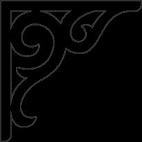 Zierornament 016. Hier können Sie traditionelle Zierornamente für ihre Giebel, Fenster und Terrassen kaufen. Schwedischer Stil, schwedische Häuser, Villen und Ferienhäuser. Bestellen Sie Ihr eigenes D