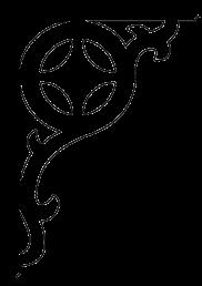Zierornament 006. Hier können Sie traditionelle Zierornamente für ihre Giebel, Fenster und Terrassen kaufen. Schwedischer Stil, schwedische Häuser, Villen und Ferienhäuser. Bestellen Sie Ihr eigenes D