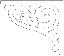 Gaveldekor konsol 013L