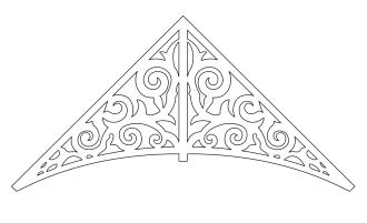 Giebelschmuck 011. Hier können Sie traditionelle Zierornamente für ihre Giebel, Fenster und Terrassen kaufen. Schwedischer Stil, schwedische Häuser, Villen und Ferienhäuser. Bestellen Sie Ihr eigenes Design und Größe oder wählen sie eines unserer Standardmodelle. Zierornamente für ihre Veranda und Terrasse, Geländer, Dächer, Windbretter, Giebel und Fenster. Scrollen Sie nach unten, und lassen Sie sich inspirieren! Wählen Sie dekorative Konsolen für Ihre Veranda aus unseren Standardmaßen aus oder bestellen Sie Ihre Konsolen mit Ihren eigenen Abmessungen. Hausdekoration, Giebelschmuck, Dachschmuck, Giebelgaubenschmuck, Dachgaubenschmuck, Gaubenschmuck, Hausschmuck, Konsolen, Geländerschmuck,Veranda, Stempel Veranda, Sägen Freunde, Holzfassade, Balkonbrüstung, Hausdekoration, Windscheibe dekor, decke dekor, Ende dekor, Schnitzereien, Holzmuster, vestibul, pergola, pavillon, orangeri, verschnörkelt, frills, sveitserstil, ornament, Schriftrollen. holzzäune, dachterrasse, zaun, reling, Holzgeländer,Hausdekoration, Giebelschmuck, Dachschmuck, Giebelgaubenschmuck, Dachgaubenschmuck, Gaubenschmuck, Hausschmuck, Konsolen, Geländerschmuck