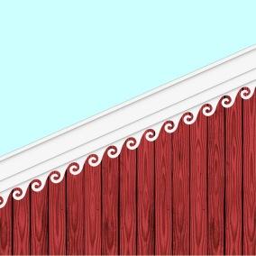Windbrett 001. Hier können Sie traditionelle Zierornamente für ihre Giebel, Fenster und Terrassen kaufen. Schwedischer Stil, schwedische Häuser, Villen und Ferienhäuser. Bestellen Sie Ihr eigenes Design und Größe oder wählen sie eines unserer Standardmodelle. Zierornamente für ihre Veranda und Terrasse, Geländer, Dächer, Windbretter, Giebel und Fenster. Scrollen Sie nach unten, und lassen Sie sich inspirieren! Wählen Sie dekorative Konsolen für Ihre Veranda aus unseren Standardmaßen aus oder bestellen Sie Ihre Konsolen mit Ihren eigenen Abmessungen. Hausdekoration, Giebelschmuck, Dachschmuck, Giebelgaubenschmuck, Dachgaubenschmuck, Gaubenschmuck, Hausschmuck, Konsolen, Geländerschmuck,Veranda, Stempel Veranda, Sägen Freunde, Holzfassade, Balkonbrüstung, Hausdekoration, Windscheibe dekor, decke dekor, Ende dekor, Schnitzereien, Holzmuster, vestibul, pergola, pavillon, orangeri, verschnörkelt, frills, sveitserstil, ornament, Schriftrollen. holzzäune, dachterrasse, zaun, reling, Holzgeländer,Hausdekoration, Giebelschmuck, Dachschmuck, Giebelgaubenschmuck, Dachgaubenschmuck, Gaubenschmuck, Hausschmuck, Konsolen, Geländerschmuck