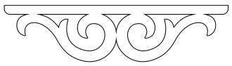 Mittdekor 008. Snickarglädje och dekoration till verandan, farstukvisten, hela huset och villan. Måttanpassade konsoler, staket och räcken med snickarglädje. Du hittar gammaldags träräcke att köpa, trästaket med detaljer, mönster, ornament, dekoration för huset, snideri, träsnideri och snickarglädje med krusiduller och krumelurer till farstukvist och veranda samt dekor till taket och vindskivorna. Nockdekor och gavelornament. Köp dekoration till fönster och överliggare med dekorativt fönsterfoder. Prisvärt, svensktillverkat och snabb leverans.