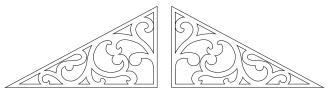 Giebelschmuck 030. Hier können Sie traditionelle Zierornamente für ihre Giebel, Fenster und Terrassen kaufen. Schwedischer Stil, schwedische Häuser, Villen und Ferienhäuser. Bestellen Sie Ihr eigenes Design und Größe oder wählen sie eines unserer Standardmodelle. Zierornamente für ihre Veranda und Terrasse, Geländer, Dächer, Windbretter, Giebel und Fenster. Scrollen Sie nach unten, und lassen Sie sich inspirieren! Wählen Sie dekorative Konsolen für Ihre Veranda aus unseren Standardmaßen aus oder bestellen Sie Ihre Konsolen mit Ihren eigenen Abmessungen. Hausdekoration, Giebelschmuck, Dachschmuck, Giebelgaubenschmuck, Dachgaubenschmuck, Gaubenschmuck, Hausschmuck, Konsolen, Geländerschmuck,Veranda, Stempel Veranda, Sägen Freunde, Holzfassade, Balkonbrüstung, Hausdekoration, Windscheibe dekor, decke dekor, Ende dekor, Schnitzereien, Holzmuster, vestibul, pergola, pavillon, orangeri, verschnörkelt, frills, sveitserstil, ornament, Schriftrollen. holzzäune, dachterrasse, zaun, reling, Holzgeländer,Hausdekoration, Giebelschmuck, Dachschmuck, Giebelgaubenschmuck, Dachgaubenschmuck, Gaubenschmuck, Hausschmuck, Konsolen, Geländerschmuck