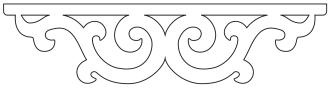 Gaveldekor mittdekor 001. Snickarglädje och dekoration till verandan, farstukvisten, hela huset och villan. Måttanpassade konsoler, staket och räcken med snickarglädje. Du hittar gammaldags träräcke att köpa, trästaket med detaljer, mönster, ornament, dekoration för huset, snideri, träsnideri och snickarglädje med krusiduller och krumelurer till farstukvist och veranda samt dekor till taket och vindskivorna. Nockdekor och gavelornament. Köp dekoration till fönster och överliggare med dekorativt fönsterfoder. Prisvärt, svensktillverkat och snabb leverans.