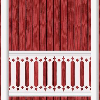 Räcke 015. Ritningen visar 9 st ribbor tillsammans.  Gaveldekor Snickarglädje.