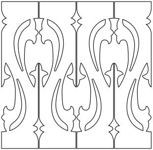 Gaveldekor Räcke 052. Köp Snickarglädje och dekoration till verandan, farstukvisten, hela huset och villan. Måttanpassade konsoler, staket och räcken med snickarglädje. Du hittar gammaldags träräcke, trästaket med detaljer, mönster, ornament, dekoration för huset, snideri, träsnideri och snickarglädje med krusiduller och krumelurer till fastukvisten och verandan samt dekor till taket och vindskivorna. Nockdekor och gavelornament. Dekoration till fönster och överliggare med dekorativt fönsterfoder. Prisvärt, svensktillverkat och snabb leverans.