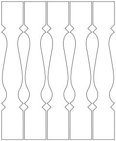 Gaveldekor Räcke snickarglädje 008. Köp Snickarglädje och dekoration till verandan, farstukvisten, hela huset och villan. Måttanpassade konsoler och räcken med snickarglädje. Du hittar träräcke, trästaket med detaljer, mönster, ornamnent, dekoration för huset, snideri, träsnideri och snickarglädje med krusiduller och krumelurer till fastukvisten och verandan samt dekor till taket och vindskivorna. Nockdekor och gavelornament. Dekoration till fönster och överliggare med dekorativt fönsterfoder. Prisvärt, svensktillverkat och snabb leverans.