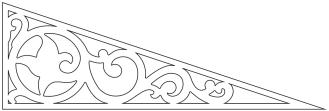 Fyllnadsdekor 020. Köp Snickarglädje och dekoration till verandan, farstukvisten, hela huset och villan. Måttanpassade konsoler, staket och räcken med snickarglädje. Du hittar gammaldags träräcke att köpa, trästaket med detaljer, mönster, ornament, dekoration för huset, snideri, träsnideri och snickarglädje med krusiduller och krumelurer till fastukvist och veranda samt dekor till taket och vindskivorna. Nockdekor och gavelornament. Dekoration till fönster och överliggare med dekorativt fönsterfoder. Prisvärt, svensktillverkat och snabb leverans.