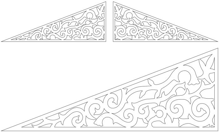 Fyllnadsdekor 030. Köp Snickarglädje och dekoration till verandan, farstukvisten, hela huset och villan. Måttanpassade konsoler, staket och räcken med snickarglädje. Du hittar gammaldags träräcke att köpa, trästaket med detaljer, mönster, ornament, dekoration för huset, snideri, träsnideri och snickarglädje med krusiduller och krumelurer till fastukvist och veranda samt dekor till taket och vindskivorna. Nockdekor och gavelornament. Dekoration till fönster och överliggare med dekorativt fönsterfoder. Prisvärt, svensktillverkat och snabb leverans.