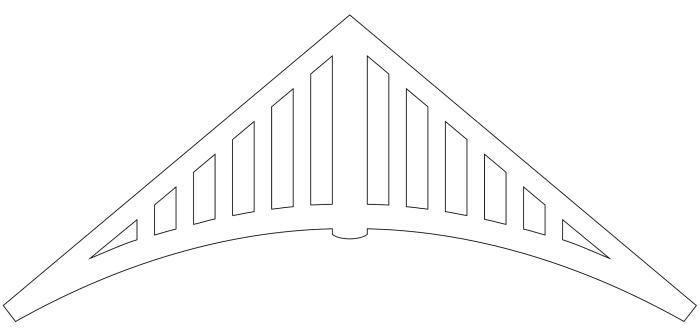 Gavelornament 020 35° Gaveldekor Snickarglädje