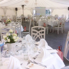 Marquee and table setting at Gimo Mansion