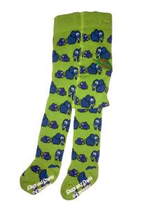 Elefanter! Ekologiska barnstrumpbyxor med halkskydd - Elefanter (56/68cl) 0-6 mån