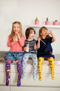 Roliga timmen! Barnstrumpbyxor med anti-slip
