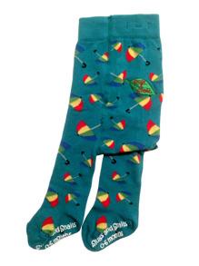 Paraply! Ekologiska barnstrumpbyxor med halkskydd 0-5år - Paraply 56/68cl (0-6 mån)