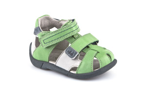 Froddo Isak Lära-gå-sandal - Grön/Grå G2150051-3 (Stl. 20) - Storlek 20 - mått 13,0 cm Grön/Vit