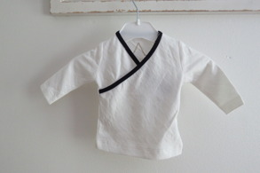 Babytröja Vit/Marinblå - 44-92cl - Vit/marinblå Stl. 44 Premature